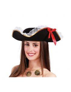 Sombrero de Pirata Mujer Lujo Tienda de disfraces online - venta disfraces