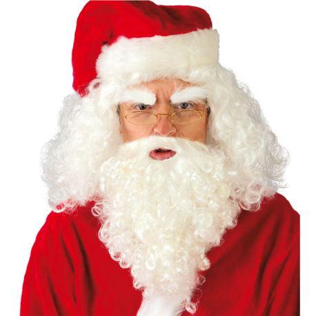 Peluca con Barba y Bigote Papá Noel
