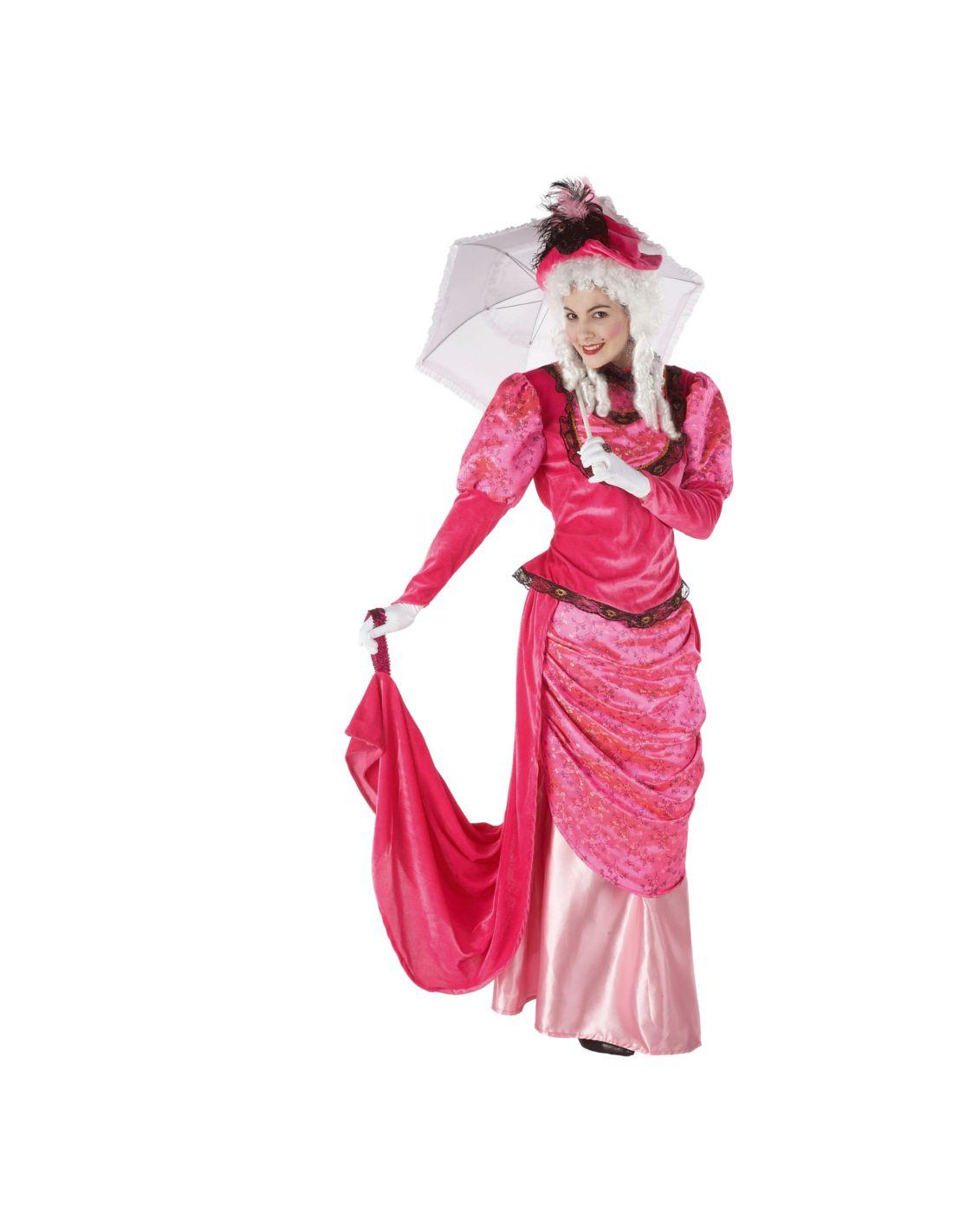 Disfraz dama de epoca rosa mercadisfraces for Disfraces de epoca