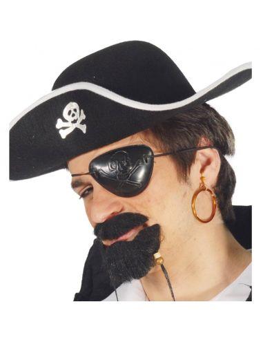 Conjunto de Parche y Pendiente para Pirata