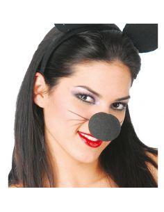 Nariz Espuma en Negro Tienda de disfraces online - venta disfraces