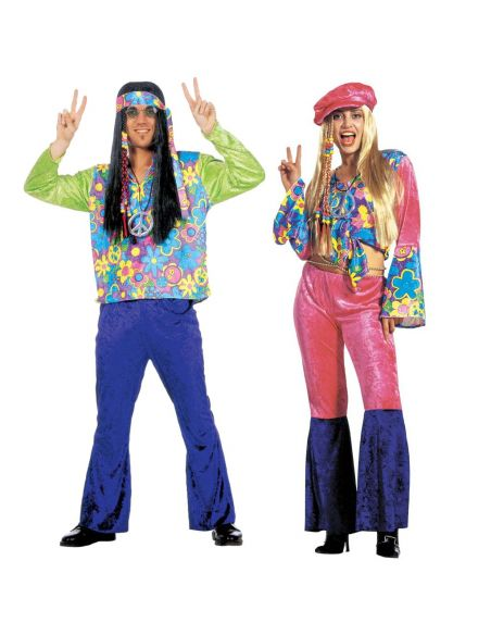 Disfraz de Hippie Flores para Hombre Tienda de disfraces online - venta disfraces