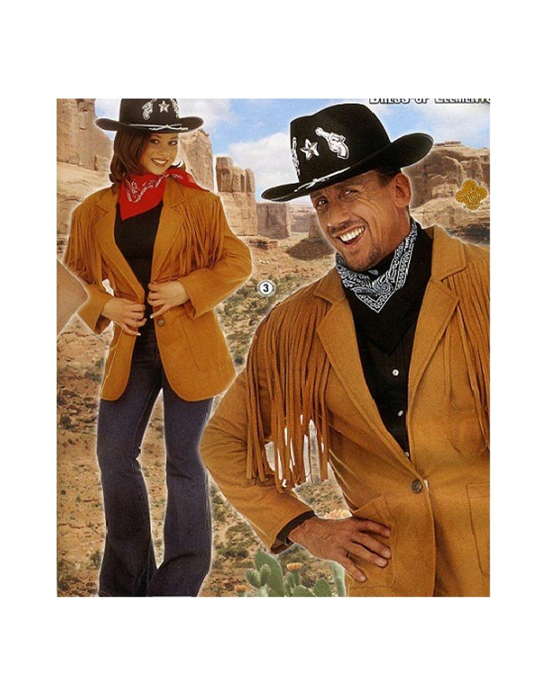 Disfraz Chaqueta Vaquero del oeste para hombre  f39e76b6e191
