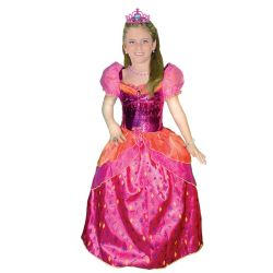 Disfraz Princesa Diamante Infantil Fucsia