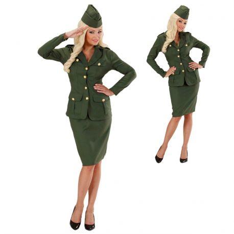 Disfraz Soldado WW2 de mujer