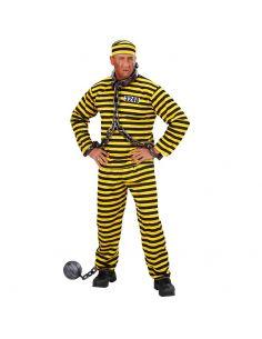 Disfraz de Preso en Amarillo Talla XL Tienda de disfraces online - venta disfraces
