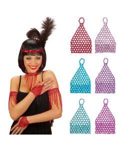 Mitón Elástico Corto con Pedrería en Colores Tienda de disfraces online - venta disfraces