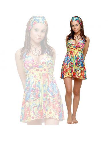 Disfraz Chica Hippie Flower Power Tienda de disfraces online - venta disfraces