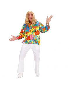 Camisa Hippie de Flores  Tienda de disfraces online - venta disfraces