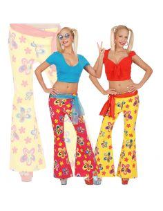 Pantalón de Campana de Flores Tienda de disfraces online - venta disfraces