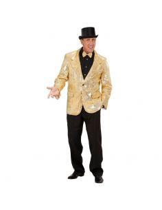 Americana Dorada de Lentejuelas Talla XL Tienda de disfraces online - venta disfraces