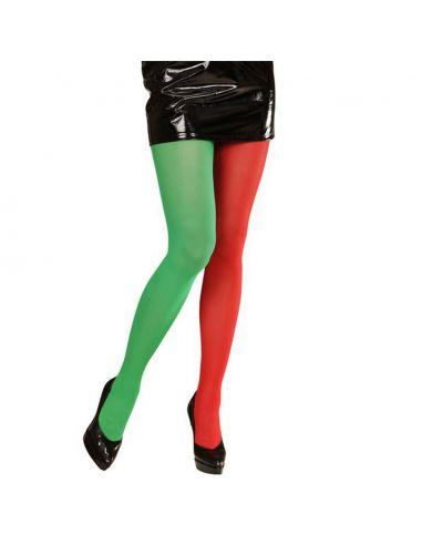 Medias Bicolor Rojo Verde Tienda de disfraces online - venta disfraces