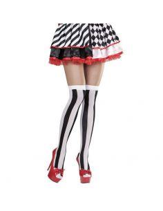 Medias Rayas blanco/negro Tienda de disfraces online - venta disfraces
