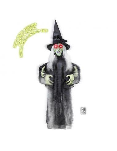 Bruja Parlanchina con brazos móviles para Halloween Tienda de disfraces online - venta disfraces
