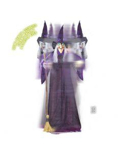 Bruja Animada Giratoria y Parlante para Halloween Tienda de disfraces online - venta disfraces