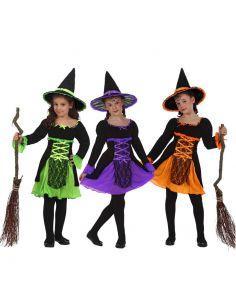 Disfraz Brujita en colores infantil Tienda de disfraces online - venta disfraces