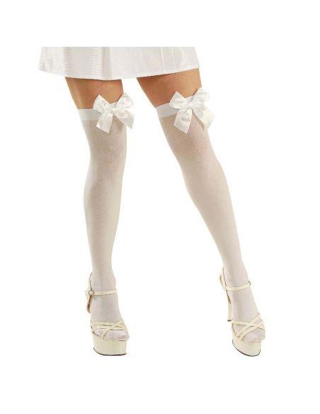 Medias Blancas con Lazo de Color Tienda de disfraces online - venta disfraces
