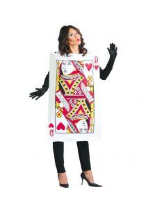 Disfraz Carta Reina de Corazones Adulta Tienda de disfraces online - venta disfraces
