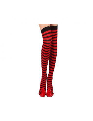 Medias Liga negro/rojo Tienda de disfraces online - venta disfraces