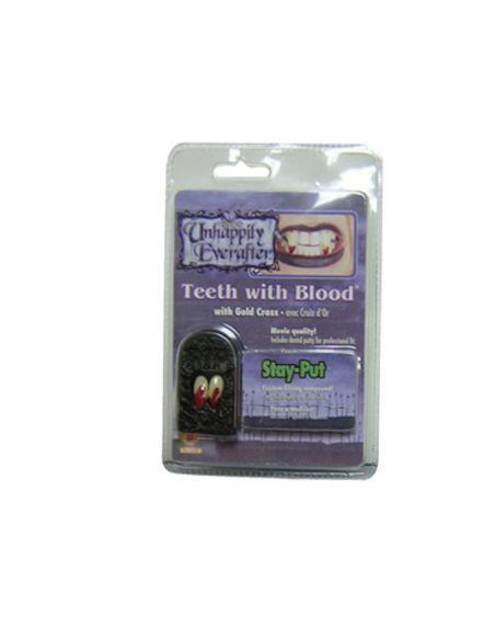 Colmillos de vampiro con sangre Tienda de disfraces online - venta disfraces