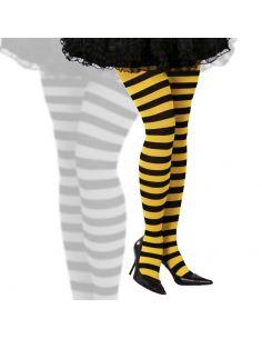 Pantys a rayas negro y amarillo Tienda de disfraces online - venta disfraces