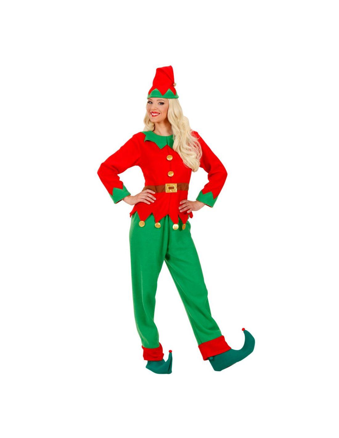 Disfraz elfo mujer ayudante de papa noel tienda de - Disfraces de duendes de navidad ...