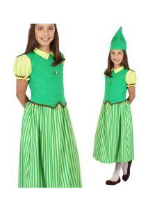 Disfraz Duende verde Infantil para niña