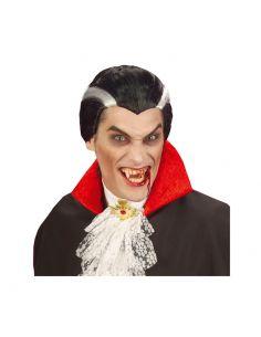 Peluca Vampiro Mechas blancas Adulto Tienda de disfraces online - venta disfraces