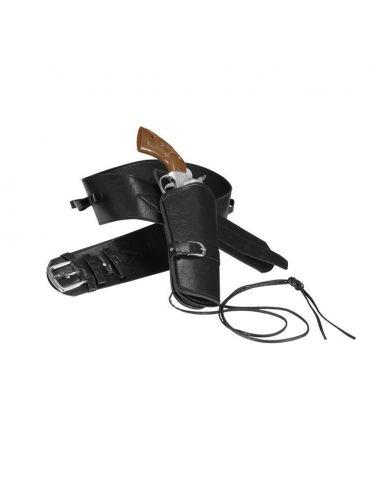 Cinturón con funda pistola negra