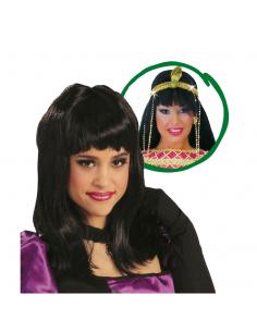 Peluca Cleopatra negra Tienda de disfraces online - venta disfraces