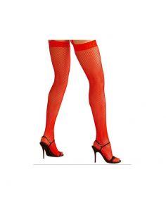 Medias rojas de rejilla  Tienda de disfraces online - venta disfraces