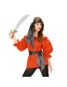 Camisa de Pirata en Rojo Talla XL Tienda de disfraces online - venta disfraces