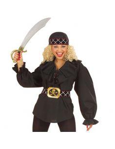 Camisa de Pirata en Negro para mujer Tienda de disfraces online - venta disfraces