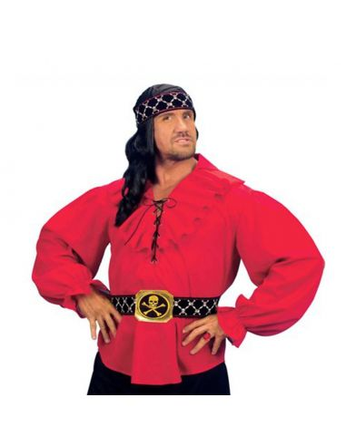Camisa de Pirata en Rojo Tienda de disfraces online - venta disfraces