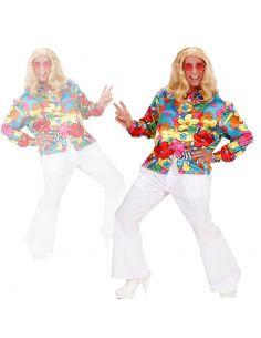 Camisa Hippie de Flores Talla XL Tienda de disfraces online - venta disfraces