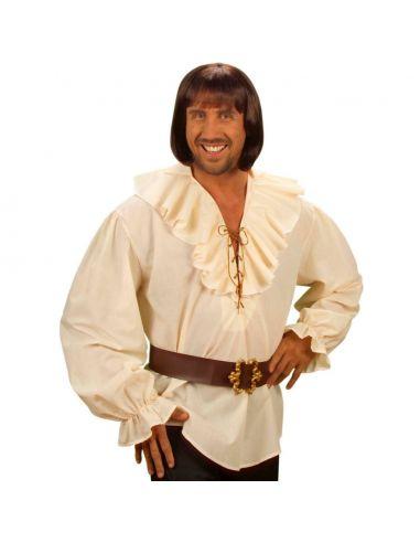 Camisa de Pirata en Beige Talla XL Tienda de disfraces online - venta disfraces