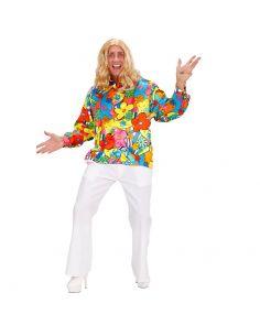 Camisa Hippie de Flores Talla XXL Tienda de disfraces online - venta disfraces