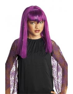 Peluca Infantil Lila Vampiresa Traviesa Tienda de disfraces online - venta disfraces