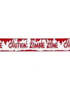 """Cinta Balizamiento """"Zona Zombie"""" Precaución Tienda de disfraces online - venta disfraces"""