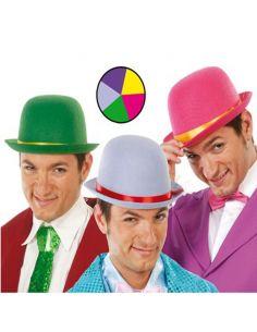 Sombrero Bombín de Fieltro en Colores Surtidos Tienda de disfraces online - venta disfraces