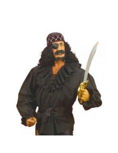 Camisa de Pirata en Negro Talla XL Tienda de disfraces online - venta disfraces