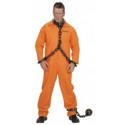 Disfraz de Convicto en Naranja Talla XL