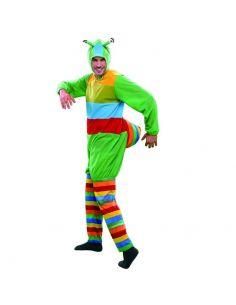 Disfraz gusano multicolor para hombre Tienda de disfraces online - venta disfraces