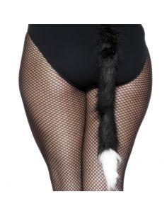 Cola de Gato Negra con punta blanca Tienda de disfraces online - venta disfraces