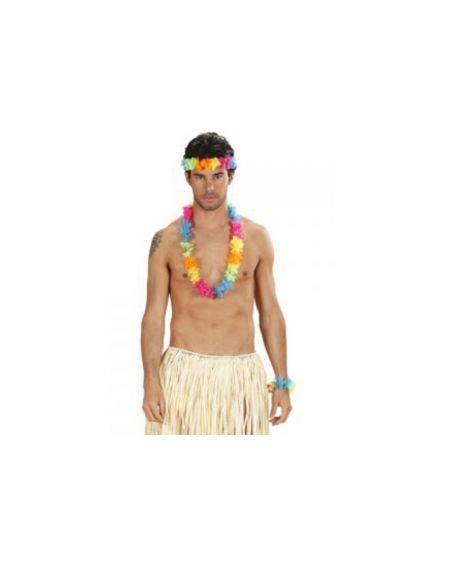 Set Hawaiano Multicolor Brillante