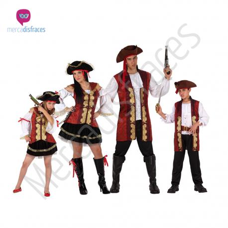 Disfraces Grupo Piratas granates Tienda de disfraces online - venta disfraces