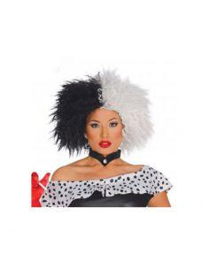Peluca blanca y negra cruela Tienda de disfraces online - venta disfraces