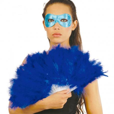 Abanico de Plumas color Azul Tienda de disfraces online - venta disfraces