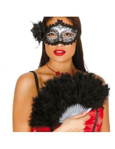 Abanico negro de plumas Tienda de disfraces online - venta disfraces