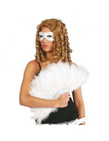 Abanico blanco de plumas Tienda de disfraces online - venta disfraces